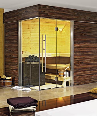 sauna hammam construction. Black Bedroom Furniture Sets. Home Design Ideas
